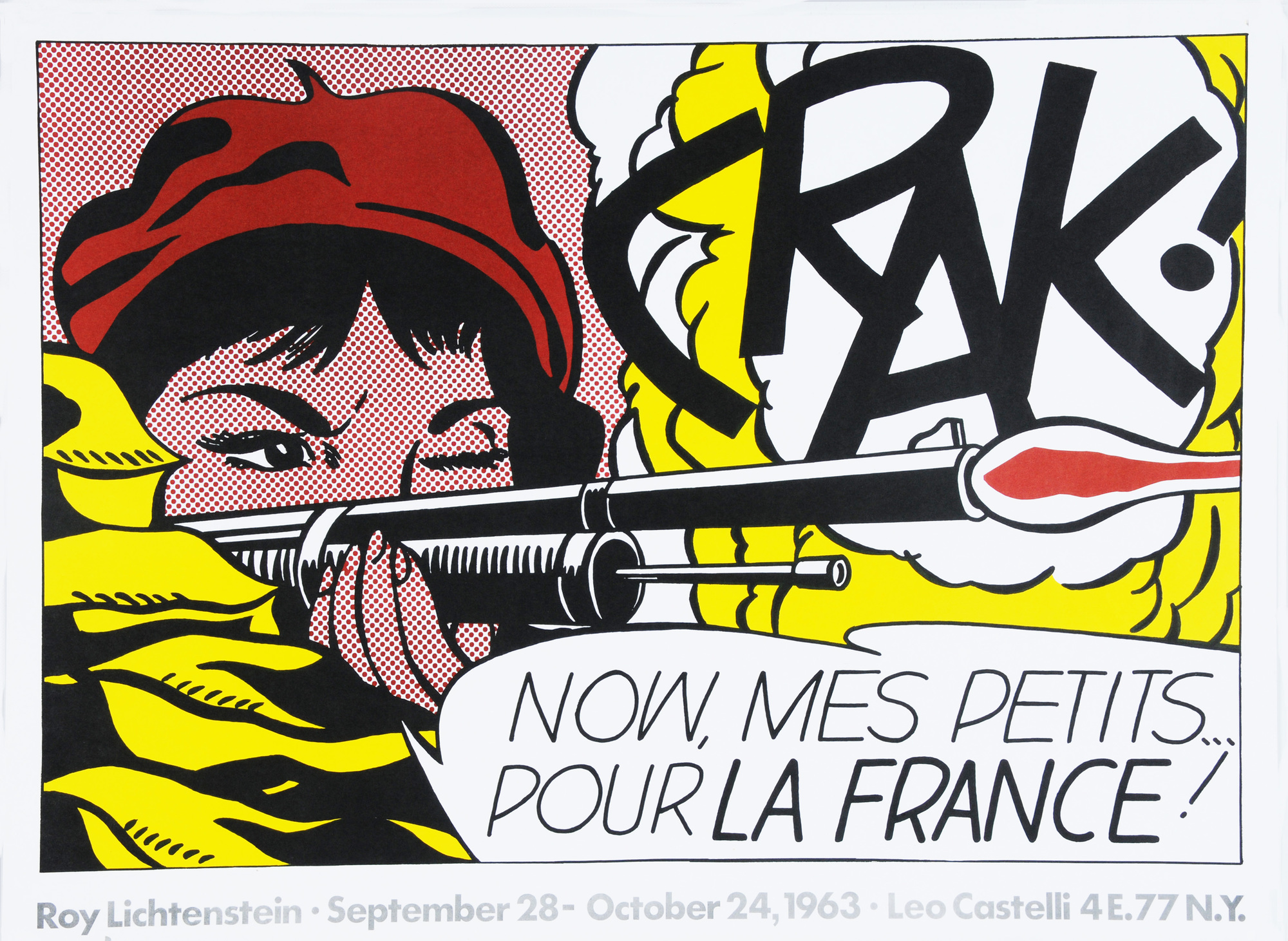 Lichtenstein Roy, Crak!  Roy Lichtenstein,  September 28 - October 24, 1963, Leo Castelli, NY