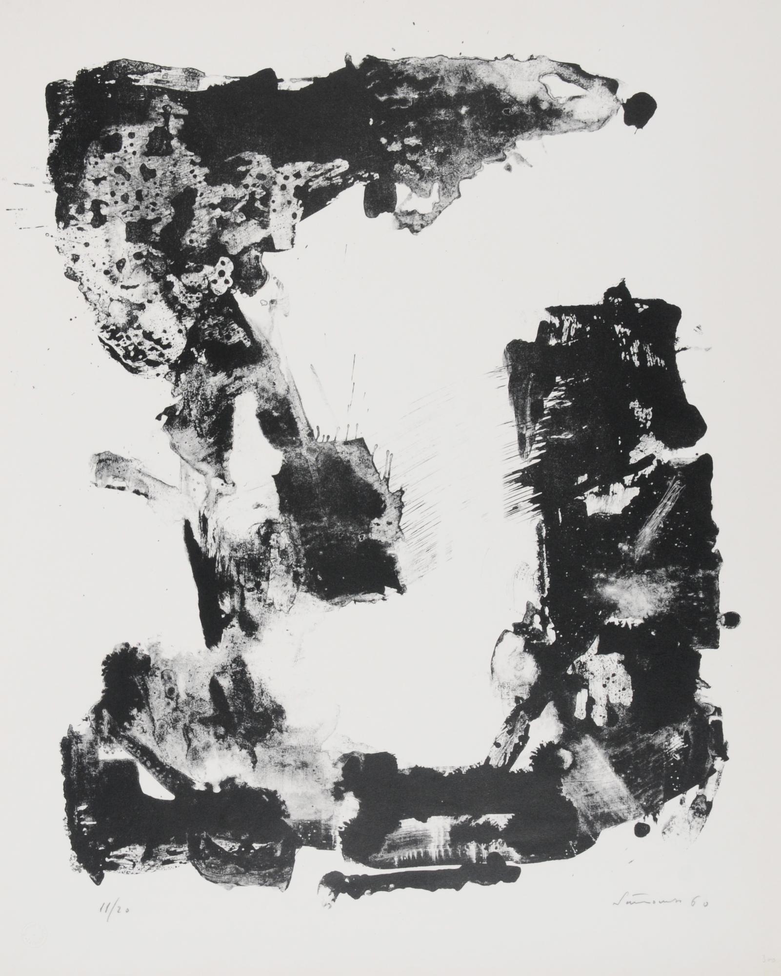 Santomaso Giuseppe, 2 sheets: Senza titolo, 1960; Luce e quasi ombra
