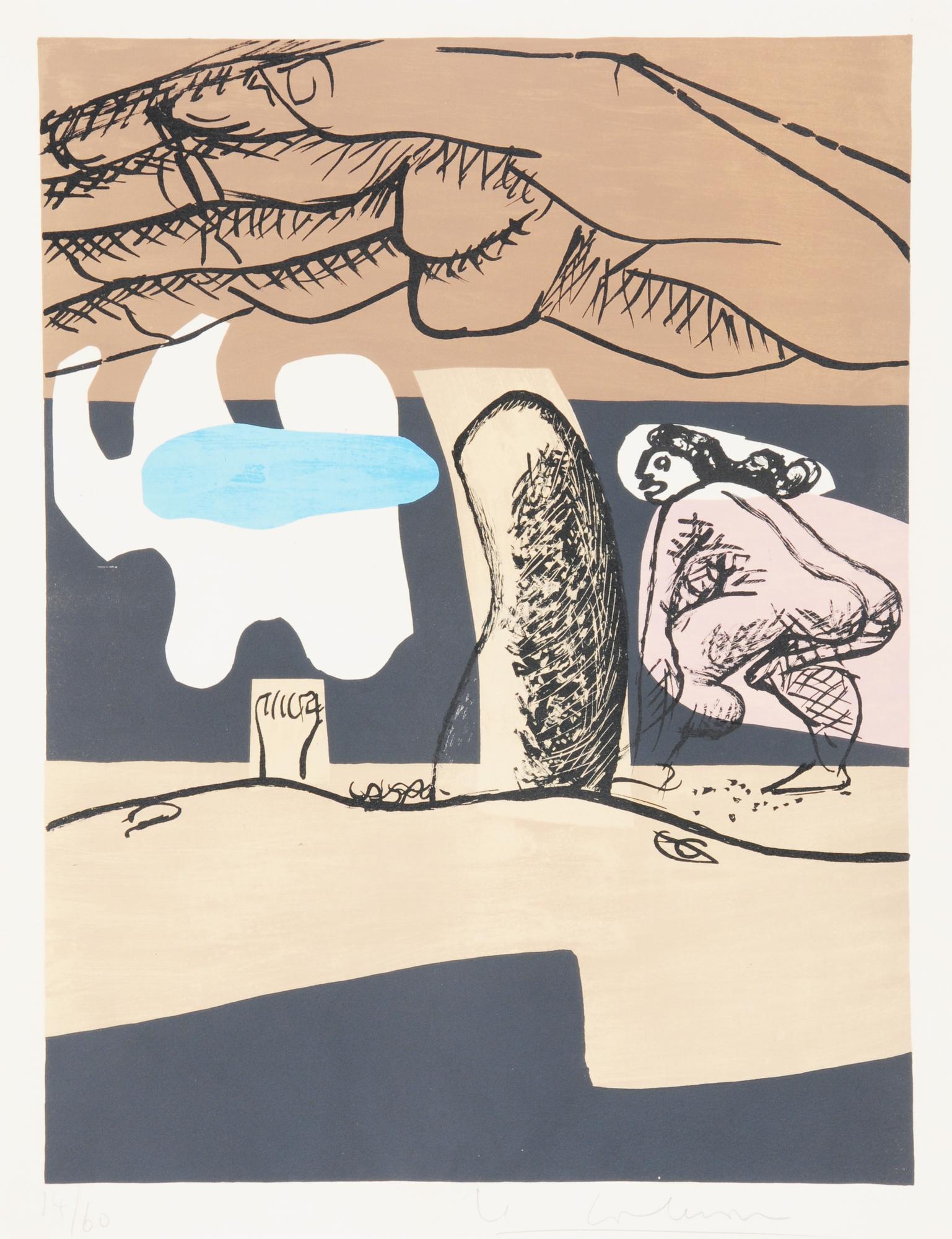 """Corbusier Le, 2 sheets from """"Poème de l'angle droit"""""""