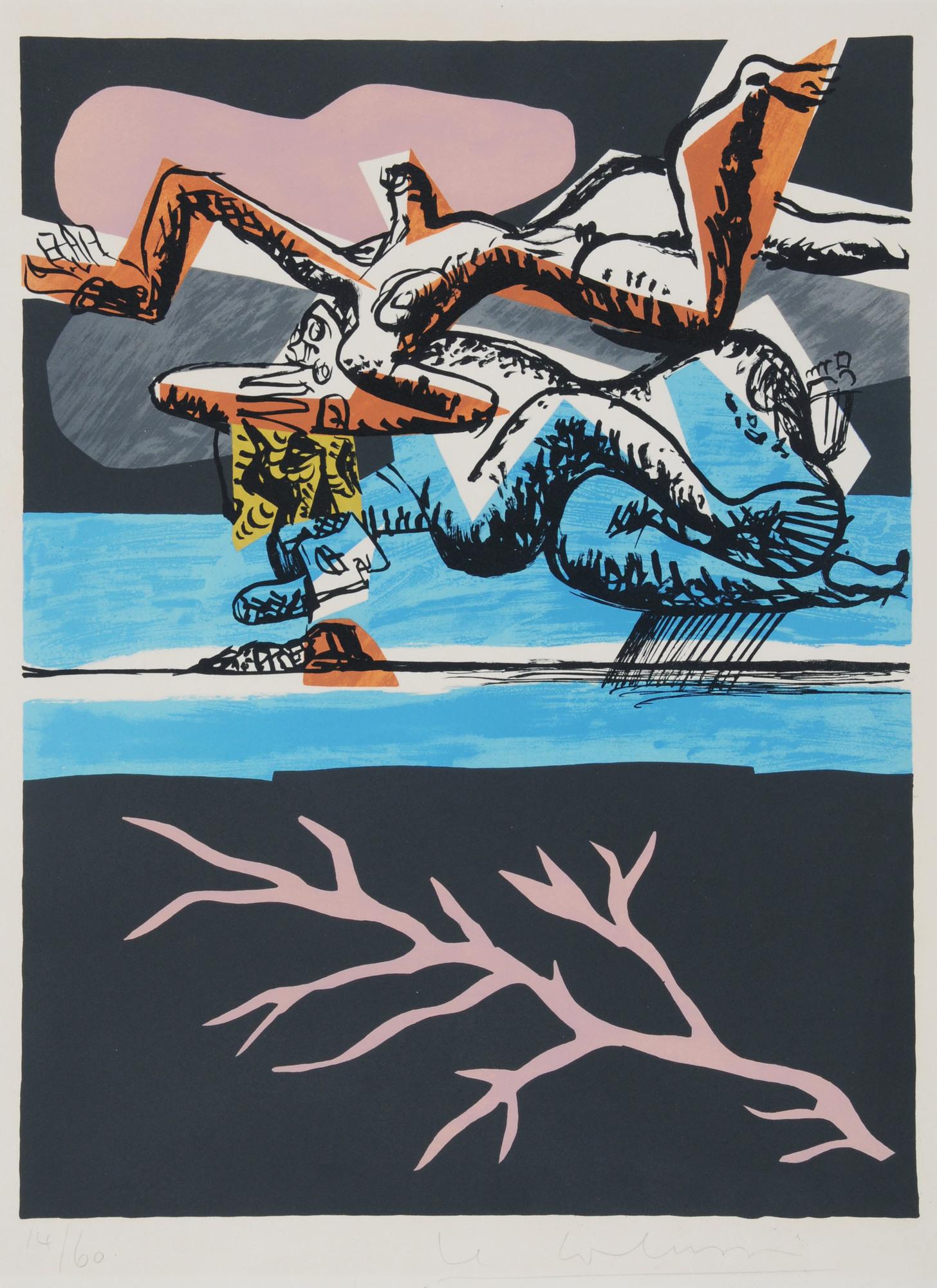 """Corbusier Le, 2 Blätter aus """"Poème de l'angle droit"""""""