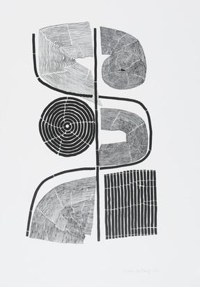 Andersch Gisela, 5 sheets: Ahasa 2, 1971; Ahasa 3, 1971; Axon 3, 1971; Untitled (2)
