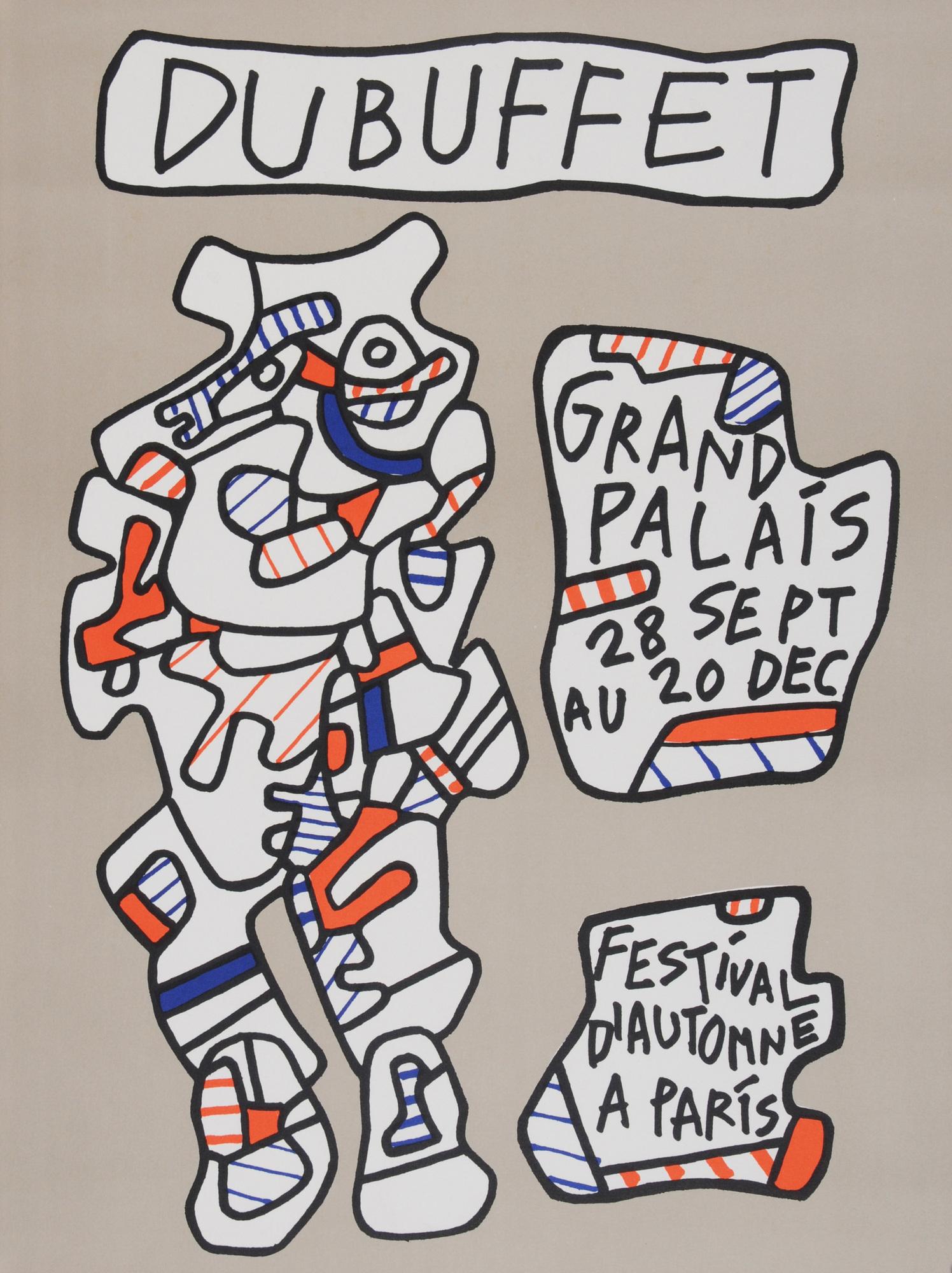 Dubuffet Jean, 3 Plakate:  Festival d'automne à Paris, 28 Sept au 20 Dec (2);  Coucou Bazar, 2 au 29 Novembre