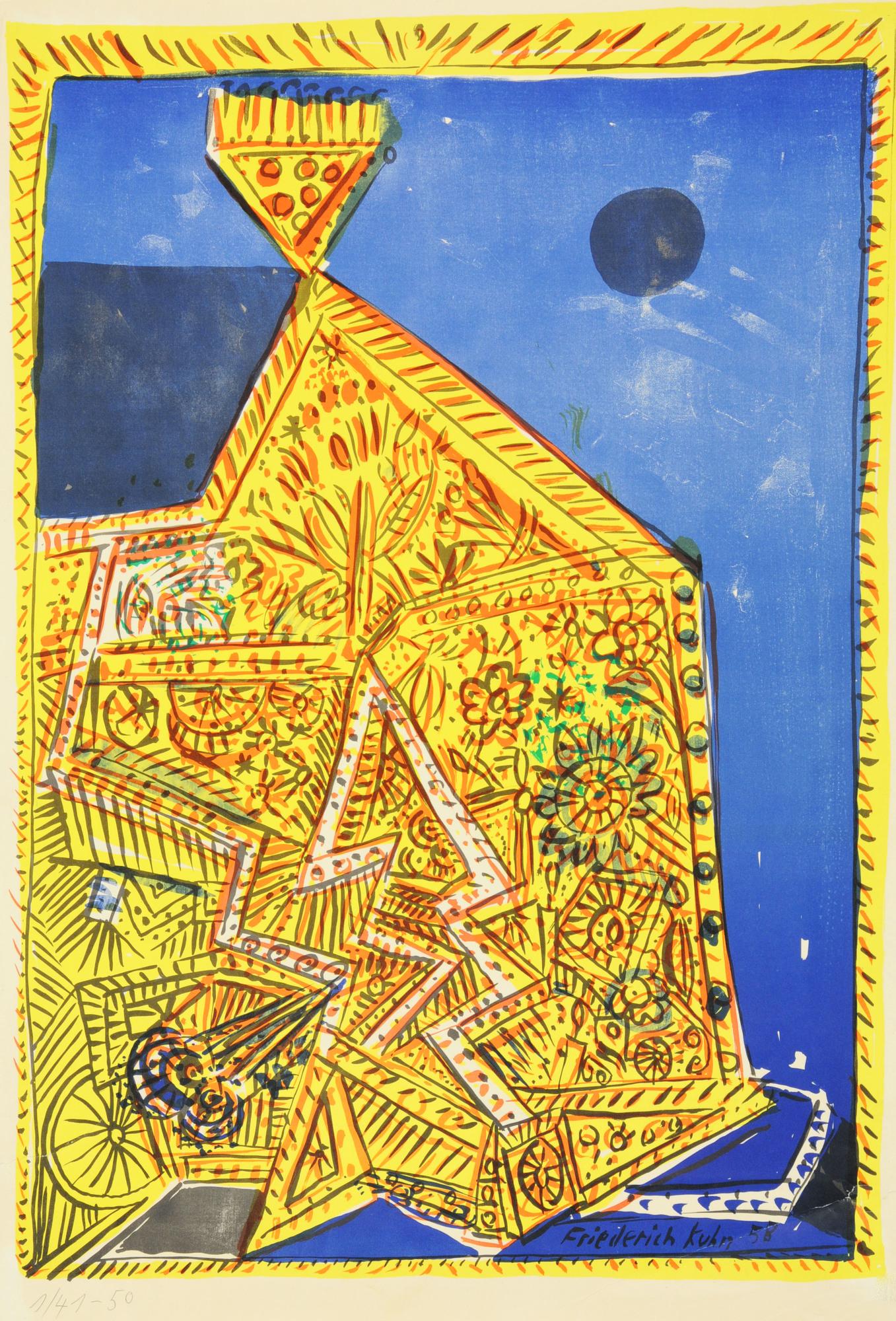 Kuhn Friedrich, 4 sheets: Untitled; Nachthaus, 1958; Untitled, 1966; Brautpaar