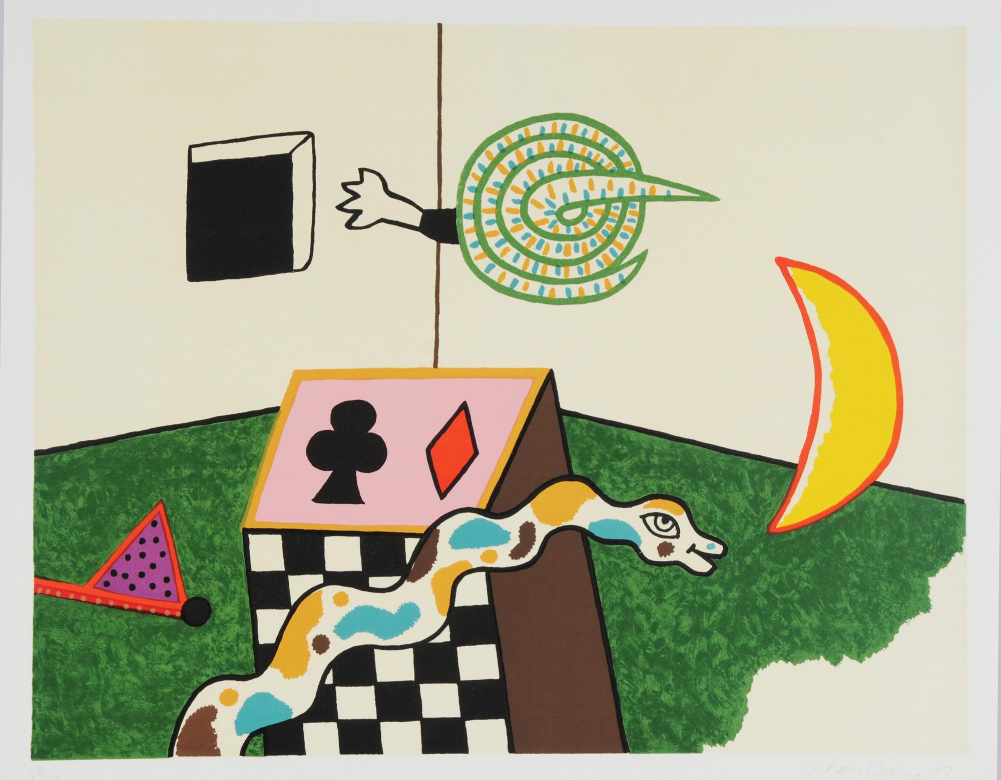 Davie Alan, 3 Blätter: Ohne Titel, 1970 (2); Ohne Titel, 1972