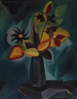 Baumann Fritz, Still Life with Flowers