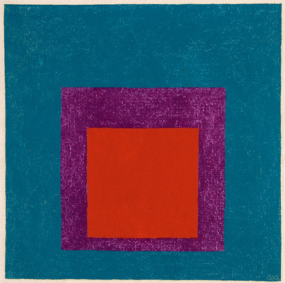 Albers Josef, Study for Homage to the Square: Red and Violet in Blue
