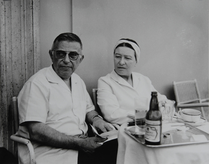 Dondero Mario, 2 photographs: Jean Paul Sartre und Simone de Beauvoir