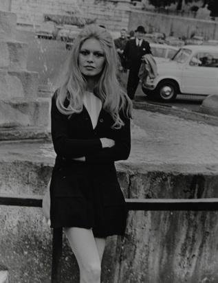 La Verde Vittorio, 4 Fotografien: Brigitte Bardot in Rom