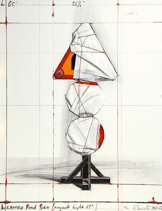 Christo, Wrapped Road Sign, Project Light 65