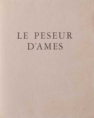 Picabia Francis, Buch. André Maurois. Le peseur d'ames