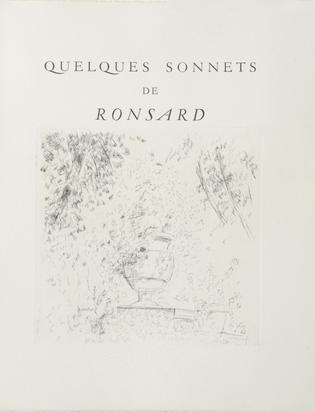 Dunoyer de Segonzac André, Mappe. Quelques Sonnets de Ronsard
