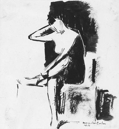 Cahn Marcelle, Femme assise