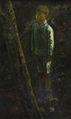 Bodmer Paul, Knabe im Wald