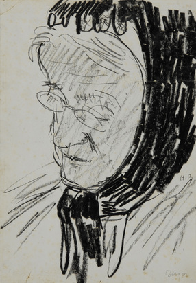 Berger Hans, 2 drawings: Die Mutter; Tante Lou