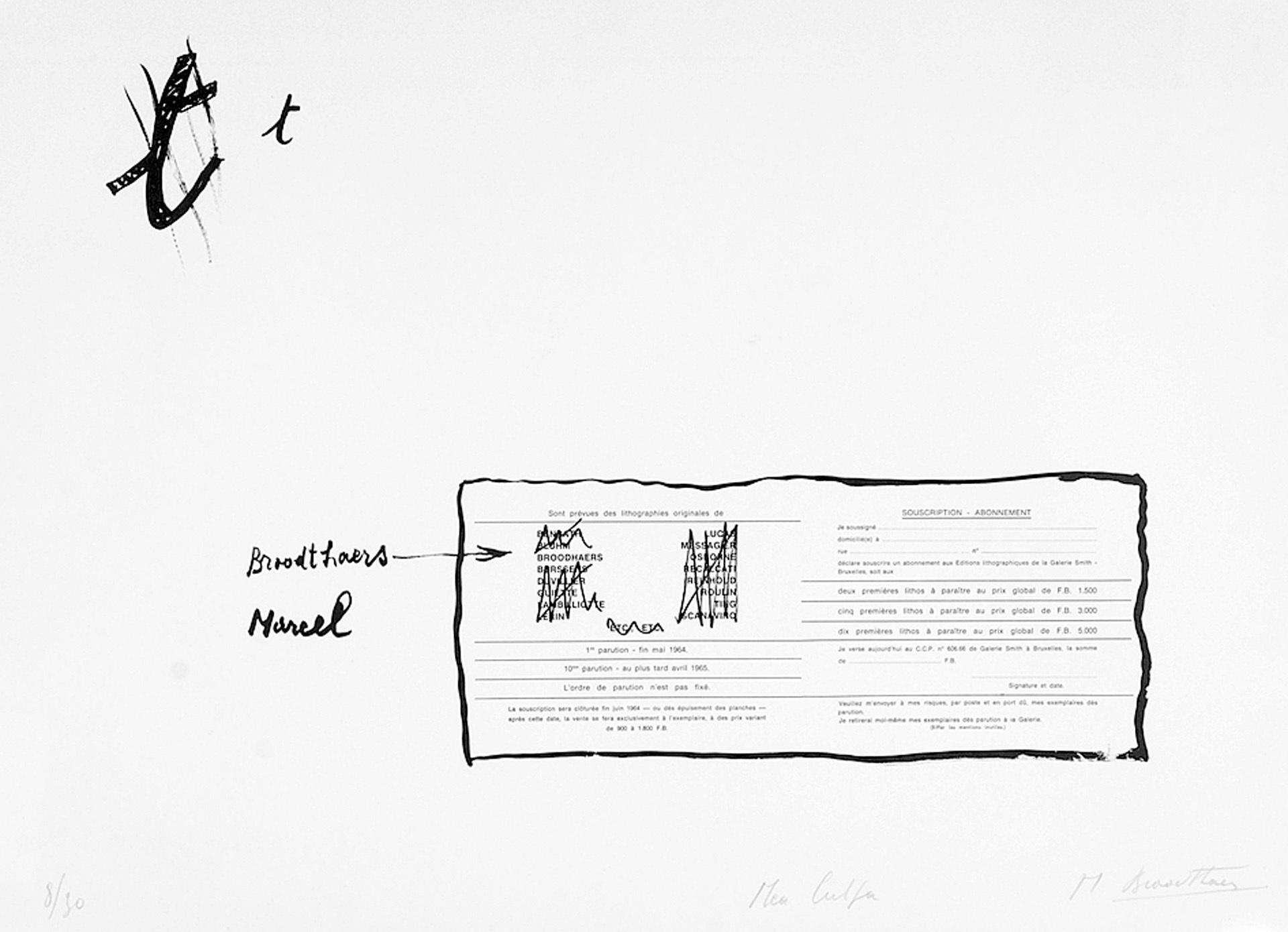 Broodthaers Marcel, La faute d'ortographe (Mea culpa)