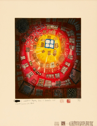 Hundertwasser Friedensreich, Window out of the pond - window into the pond