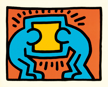 """Haring Keith, Untitled, from """"Pop Shop VI"""""""