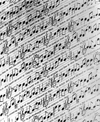 Polke Sigmar, Musiknoten