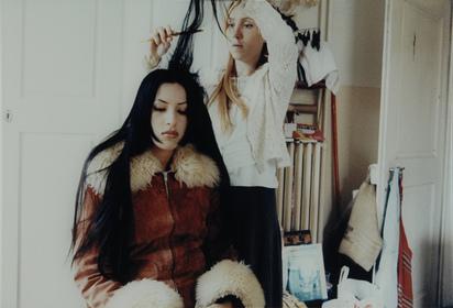 Strba Annelies, Sonja and Linda Combing Their Hair