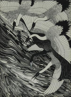 Bosschère de Jean, Flying Herons