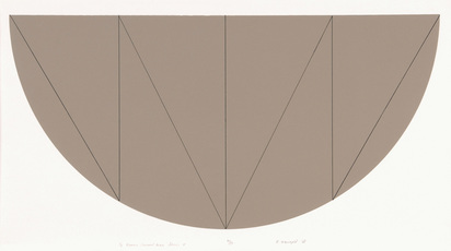 Mangold Robert, 1/2 Brown Curved Area Series V