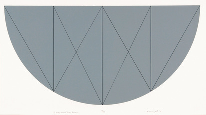 Mangold Robert, 1/2 Gray Curved Areas Series X