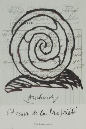 Alechinsky Pierre, Portfolio. L'Avenir de la Propriété