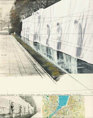 Christo, Wrapped Mur des Réformateurs, Project for Geneva