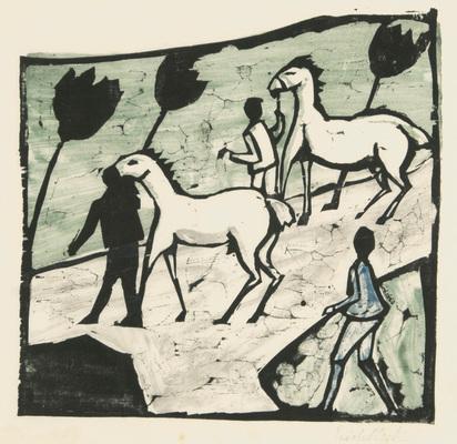 Heckel Erich, Weisse Pferde