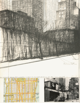 Christo, The Museum of Modern Art, Wrapped, Project for New York