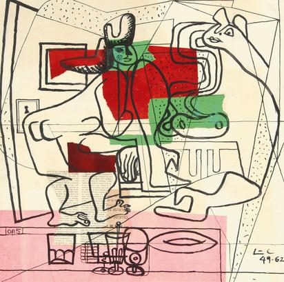 Corbusier Le, Deux femmes nues devant une table aux verres