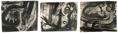 Cahn Miriam, Triptych. Blutungsarbeit - L.I.S. (Lesen in Staub)