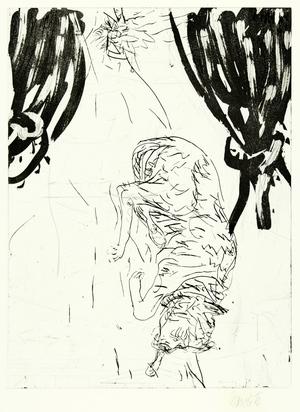 "Baselitz Georg, Victor, from ""Schlafende Hunde"""