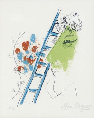 """Chagall Marc, Die Leiter, aus """"Chagall"""""""