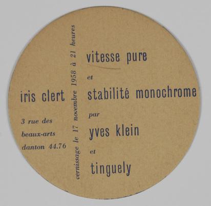 Klein Yves, Inventation vitesse pure et stabilité monochrome