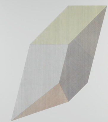 Lewitt Sol, 3 Blätter: Form Derived from a Cube with Lines in Four Directions & Four Colors