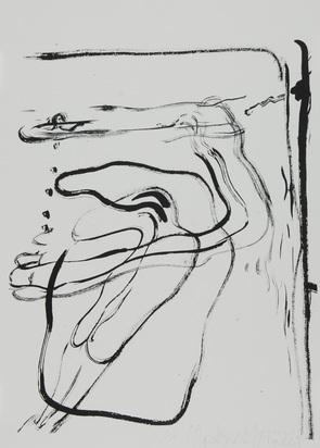 """Beuys Joseph, O.T. (Schwimmer unter Wasser), from """"Spur I"""""""