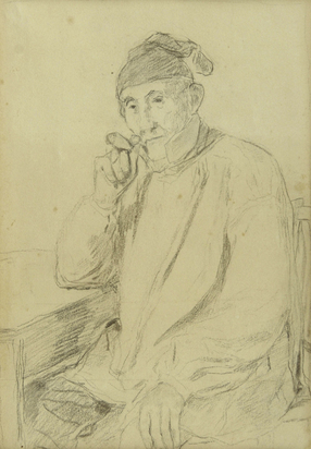 Anker Albert, Portrait of a Male with Pipe