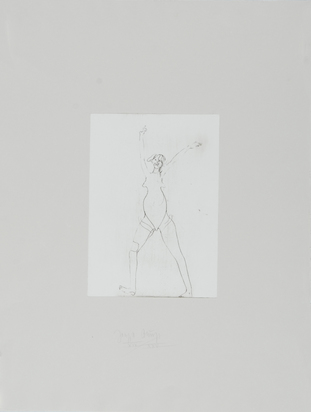 "Beuys Joseph, Untitled (Girl), from ""Suite Zirkulationszeit"""