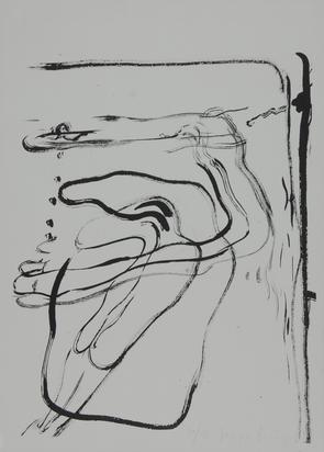 """Beuys Joseph, Untitled - Schwimmer unter Wasser, from """"Spur I"""""""