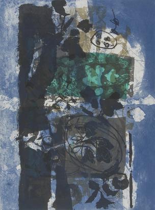 Clavé Antoni, 2 sheets: Rouge et noir, 1969; Feuilles noires