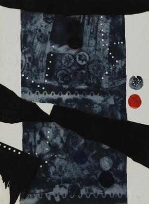 Clavé Antoni, 2 sheets: Feuille marron (Feuille d'automne), 1964; Avec des étoiles II
