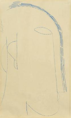 Modigliani Amedeo, Recto/verso: Tête de profil