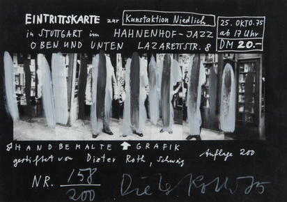 Roth Dieter, Admission Ticket to the Art Action Niedlich