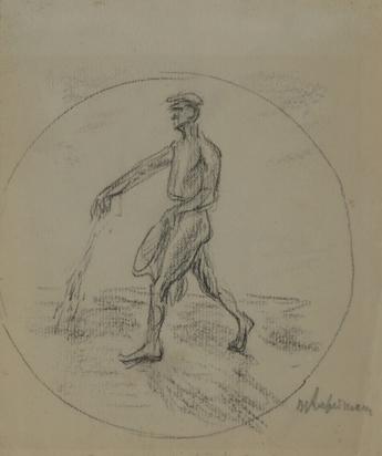 Liebermann Max, Bauer auf dem Feld