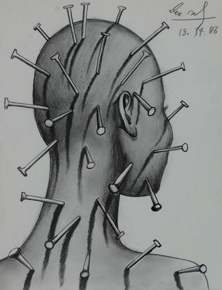 Sadkowsky Alex, Kopf mit Nägeln