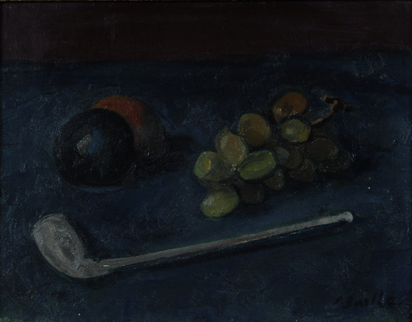 Barth Paul Basilius, Still Life with Pipe and Fruits