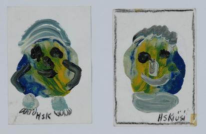 Krüsi Hans, 2 sheets: Fabelwesen
