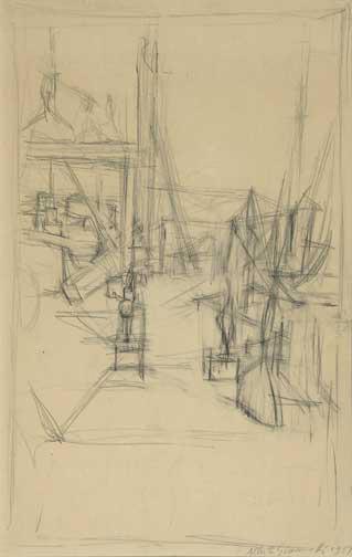 Giacometti Alberto, Dans l'atelier, 1957