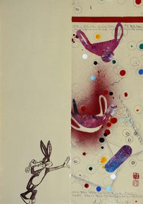 Boetti Alighiero, Untitled (Bugs Bunny), 1992
